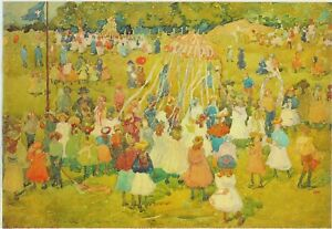MAURICE  PENDERGAST - MAY DAY - 1901 - CANVAS REPRODUCTION