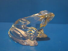 Baccarat Frog Figurine Paperweight Clear