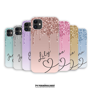 PERSONALISED PHONE CASE NAME INITIALS SILICONE COVER FOR IPHONE 12 11 XR SE 7 8