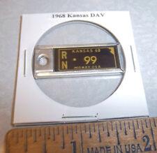 1968 Kansas #99 DAV Mini License Plate keychain Disabled American Vet