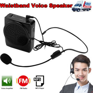 Portable Waistband Voice Boosters Speaker Microphone Amplifier Adapter Loudly