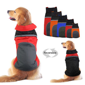 Reflective Dog Winter Clothes Waterproof Jacket Warm Coat for Small Large Dogs