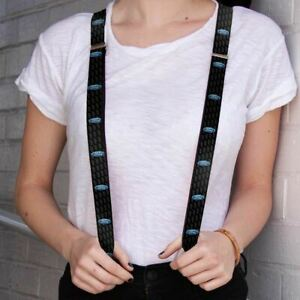 Suspenders - Blue Ford Oval Logo - We Ship WORLDWIDE and FREE To The USA! LOOK!