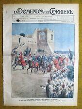 La Domenica del Corriere 25 aprile 1926 Mussolini Tripolitania - Africa - Milano