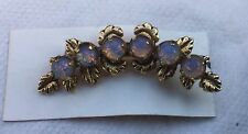 Victorian Antique Style Small Curved Opal Pin Brooch