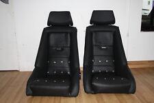 2 Recaro Rally 2 für Porsche 911 F Model Schalensitz Singer Sitze Leder schwarz