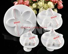 4pcs Icing Petal Flower Cutter for Cake Decorating Tool Cookie Cutter Sugarpaste