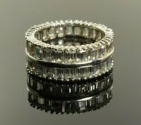Double Eternity Band in Sterling Silver with CZ Size 7