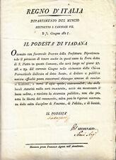HH912-MANTOVA-VIADANA AVVISO PER LA FIERA 1812