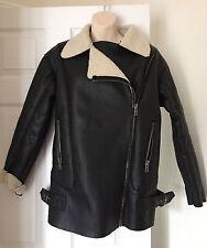 ASOS BLACK WOMEN  Fleece Lining JACKET Size 8