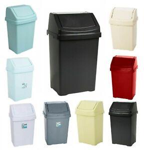 Plastic Swing Bin 50 15 25 8 Litre Home / Office / Kitchen Rubbish Waste Dustbin