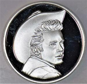 1990 One Ounce Silver James Dean Foundation 35th Anniversary Round; Gem Proof
