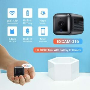 ESCAM G16 HD 1080P Mini WIFI Night Vision Built-in Battery IP Camera with Audio