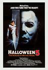 Horror: Michael Myers in * Halloween 5 The Revenge of Michael Myers* Poster 1980