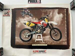 Genuine Dealership Showroom Poster - Yamaha Motocross - YZM400F