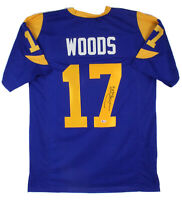 Rams Robert Woods Authentic Signed Blue Jersey Autographed BAS Witnessed