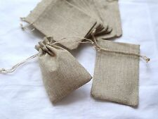 20x Hessian Burlap Favour Bag Wedding Bomboniere Rustic Pouch Vintage Party Gift