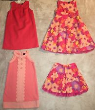 Gap Lot, 3 Dresses & 1 Skirt, Size 5 Girls, Coral & Floral Collection, New & EUC