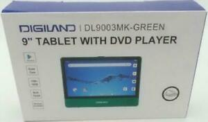 Digiland DL9003 2-in-1 Android 9.0 Tablet DVD Player Quad Core 1.3GHz 16GB Green