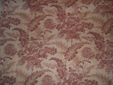 "Lee Jofa ""Wakely Toile"" vintage floral and birds fabric by the yard color ruby"