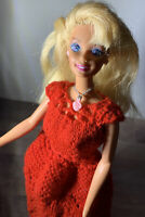 Vtg 1976 Mattel Barbie Doll Dress Earrings Necklace Twist N Turn Bending Knees