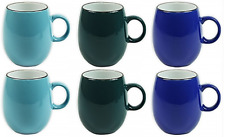 Set of 6 Large Barrel Mugs Large Shaped Extra Large Coffee Soup Mugs 400ml