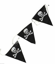 PIRATE SKULL AND CROSSBONES PARTY BUNTING FLAG BANNER BIRTHDAY DECORATION FUN