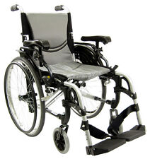 Karman Ergonomic Wheelchair S-Ergo305Q Quick Release Backrest Footrest 16 Silver