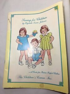Sewing for Children Elizabeth Travis Johnson The Children's Corner Booklet Guide