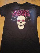 Vampires Everywhere, Skull, Bats, Shiny lettering, Short Sleeve, Girls Shirt,MED