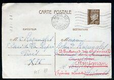 Entier postal de Paris pour Béziers et redirigé vers Perpignan en 1941