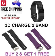 Silicone Special Edition 3D Bracelet Band Strap Fitbit Charge 2  or Screen Film