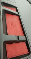 VW T5.1 TRANSPORTER,CAMPER -Cointray RED LEATHER INSERTS- BLKstitch - 09' onward
