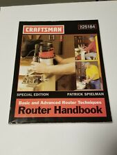Vintage Craftsman Router Handbook No. 925184, Woodworking, Carpentry