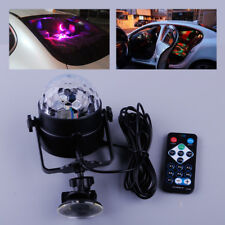 Car USB LED Disco Stage Light Crystal Magic DJ Ball Sound Activated Trip Party