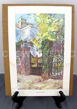 "Virginia Fouche Bolton ""Garden Gate on Tradd Street"" 8"" x 13"" Watercolor Print"
