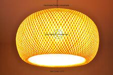 Handmade Rattan Pendant Ceiling Lampshade, Pumpkin Shape, Natural Brown, L013-2