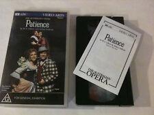 THE AUSTRALIAN OPERA 'Patience' 1995 PAL vhs Video - Gilbert & Sullivan