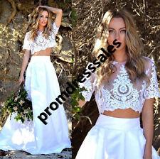 2016 Two Pieces Summer Bohemian Beach Wedding Dress Wedding Bridal Gown Custom