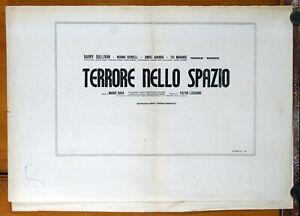 bustafoto vuota film TERRORE NELLO SPAZIO Mario Bava 1965
