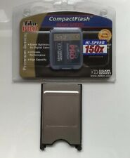 PC Card Type 1 PCMCIA Compact Flash Adapter  + Delkin Devices Memory Card 512mb