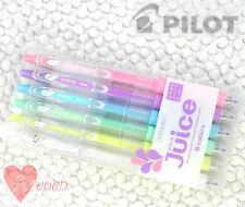 Pilot Juice ball point pen 0.5mm, 6 PASTEL Colors mixed w/ plastic case