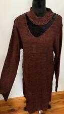 DEREK HEART Ribbed Knit Sweater Dress Stretch Sz 1X NWT Sexy!
