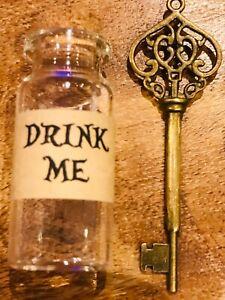 1 X ALICE IN WONDERLAND DRINK ME BOTTLE,  KEY,
