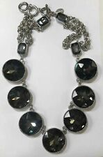 WHITE HOUSE BLACK MARKET SMOKED  Faceted Crystal Necklace-$78-NWT!