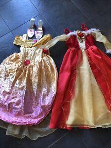 Disney Princess Belle Fancy Dress Up Costume Bundle Age 5-6 Years