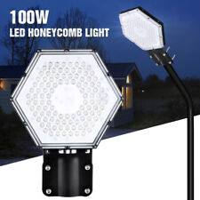 100W LED Road Street Flood Light Garden Spot Lamp Head Outdoor Yard White IP65