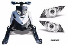 AMR Racing Ski Doo Rev XP Summit Sled Snowmobile Headlight Eye Kit 08-12 CYBRG W