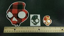 Lot Of (3) Awesome SKULLCANDY Snowboard Ski Skate Surf Stickers/Decals