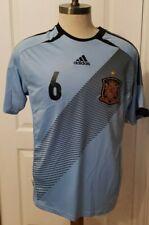 Euro 2012 Adidas Spain Soccer Jersey NWT Sky Blue L